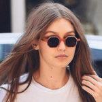 Оригинал Женское Ретро UV400 Солнцезащитные очки с круглой рамкой