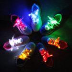 Оригинал 1параLEDБестселлеры7THпоколение Flash Светящиеся модные Nylon Обувные шнурки для вечеринки Катание на коньках Бегущая дискотека