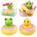 Оригинал Sanqi Elan Frog Duck Squishy 10 * 10 * 9CM Медленный рост с подарком коллекции упаковки Soft Игрушка