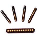 Оригинал 2X 12V 3000K 6W Flowing LED Мини-полосы мотоцикл Авто Сигнальные лампы поворота