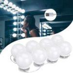 Оригинал DC5V USB Hollywood Style LED Зеркало Макияж Свет для вечеринки с 8-ю цветными лампочками для туалетной комнаты