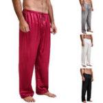 Оригинал INCERUNМужскаямешковатаяшелковаяатласнаяпижама Yoga Нижняя одежда