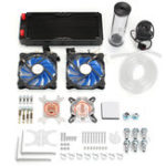 Оригинал PC Водяное охлаждение Набор Радиатор 240 мм Насос Резервуарный блок CPU Жесткие трубки DIY