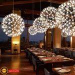 Оригинал 20см Современная LED Подвеска Люстра Светлая сфера Кулон Потолок Лампа для ресторана Бар Главная