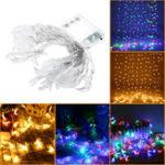 Оригинал Батарея Работает 6M Форма луны Теплый белый Colorful 40 LED String Fairy Light Свадебное Праздничный декор