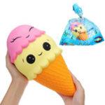 Оригинал Giant Squishy Ice Cream Cone 30 * 15CM Медленный рост с подарком коллекции упаковки Soft Игрушка
