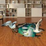Оригинал MiicoCreative3DЧайкиПтицыSea Island ПВХ Съемная домашняя комната Декоративная настенная наклейка