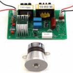 Оригинал AC 110V 50W 40KHz Ультразвуковая очистительная машина для чистки преобразователя и питания