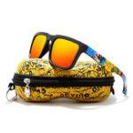 Оригинал KDEAMKD2501ПоляризованныесолнцезащитныеочкиМужчины Женское UV400 Квадратные рамки Sun Очки С Hard Чехол