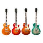 Оригинал 22 Frets 4 типа LP-стиль Электрическая гитара Твердая красная древесина