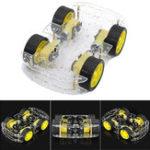 Оригинал 3Pcs Geekcreit® 4WD Smart Robot Авто Комплекты шасси с мощным магнитным регулятором скорости для Arduino