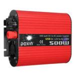 Оригинал DOXIN 1000W Пиковый преобразователь питания USB DC12V / 24V для AC 220V / 110V Модифицированный преобразователь синусоидальной волны