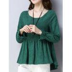 Оригинал Женское Повседневная женская жаккардовая блузка