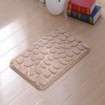 Оригинал KCASA Colorful 3D Галька Пол Коврик для ванной Натуральный абсорбирующий резиновый коврик для ванны