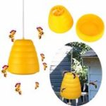 Оригинал Flying Hanging Wasp Bee Ловушка Fly Flies Насекомое Bug Pest Repeller Насекомое Отклонение Honey Pot Traps Bee Ловец Poison Repellent Bees, Мухи, Комары Wasp Flying Insect Tra