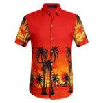 Оригинал TWO-SIDED Гавайи Пляжный Печать Приморский отдых Holiday Рубашка