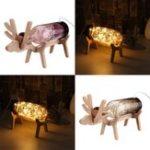 Оригинал LED Стеклянная волшебная лодка с оленьими легкими бутылками Банка Ночной светлый стол Лампа Рождественский подарок для домашнего декора