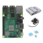 Оригинал 4 в 1 Raspberry Pi 3 Модель B+ (плюс) Плата + Mini NES Стиль Чехол + Вентилятор охлаждения + Радиаторы Стартеры