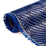 Оригинал 3K 200gsm Blue Carbon Fiber Ткань Ткани Промышленный материал Углеродная доска 36×12 дюймов
