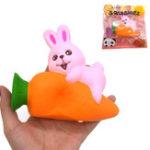 Оригинал IKURRANI Rabbit Squishy 13.5 * 11 * 5.5CM Slow Rising Soft Подарочная упаковка для животных Оригинальная упаковка