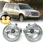 Оригинал Пара9006АвтоГалогенныепротивотуманныефары Передние бамперные лампы 55W для Toyota Highlander 2004-2007 Левый + правый