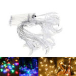 Оригинал 3M Батарея Powered Moon Shape Warm White Colorful 20 LED String Fairy Light Holiday Decor DC3V