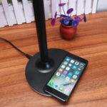 Оригинал 2 в 1 Qi Беспроводная зарядная панель + 10 Вт LED Таблица Чтение Лампа Настольная лампа для мобильного телефона