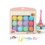 Оригинал 12pcs Macaron Crystal Slime Fluffy Goo DIY Squishy Bubbles Anti-stress Kids Toy