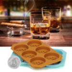Оригинал 6СеткиБиткойнДизайнСиликоновыйЛед Cube Лоток DIY Ледяной пресс шоколадный печенье Печенье для выпечки льда Cube Создатель для