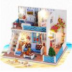 Оригинал Handcraft DIY Кукла Дом Море Деревянная миниатюрная мебель Куклаhouse Gift