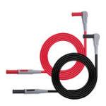 Оригинал Cleqee P1033 2Pcs Мультиметр Испытательный кабель 4 мм Banana Plug Испытательная линия Прямой к изогнутому испытательному кабелю