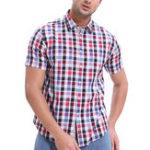 Оригинал MensFashionPlaidПечатьскоротким рукавом летом Casual Рубашка