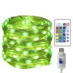 Оригинал 5метров50СветLEDЧетырехпроводный 16-цветный USB с дистанционным управлением Регулируемая Медь Светлая четвёрка