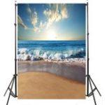 Оригинал 3x5ft 5x7ft Солнечное море Пляжный Фотография Фон Студия Prop Background
