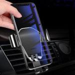 Оригинал BuckleТипGravityLinkageАвтоДержатель для переноски вентилятора на 360 ° Универсальный поворот для Iphone X