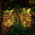Оригинал Солнечная Powered 20 LED Ананас свет висит фея строка Водонепроницаемы для На открытом воздухе Сад Path Decor