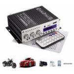 Оригинал ELEGIANT HY-V10 DC 12V 3A Mini Bluetooth Hi-Fi Стерео Усилитель Дистанционное Управление Басовый усилитель