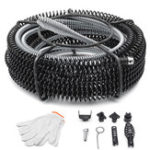 Оригинал Пылесос Drain Snake Pipe Pipeline Sewer Cleaner Spring с 6 Дрель бит для очистки труб
