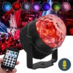 Оригинал RGB Самоходный Flash Режим Дистанционный / Голосовое управление LED Stage Light Crystal Ball DJ Part Disco Club