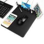 Оригинал 4 В 1 Qi Беспроводное зарядное устройство для зарядки Анти Держатель для телефона с держателем для скрытого хранения Мышь Pad