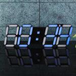 Оригинал 39 × 13 × 2,2 см 3D Цифровой LED Стена Часы Температура сигнала тревоги Современный USB Дистанционное Управление