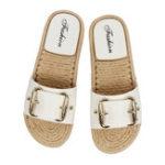 Оригинал ЖенскоеСандалииMulesSliderСандалииПляжный Тапки Плоские туфли Soft Sole На открытом воздухе Пляжный Сандалии