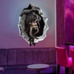 Оригинал MiicoХэллоуинстеныстикердевушкаGhost сломанной стены наклейки бар KTV Haunted House Decor
