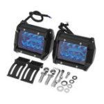 """Оригинал 4""""дюймовTri-Row200W2400LM 20LED Рабочий свет Бар Наводнение Spot Combo Fog Лампа синий for Offroad SUV"""