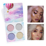 Оригинал 4 Colors Highlight Shimmer Glitter Eye Shadow Palette