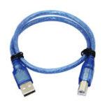 Оригинал 30pcs 30CM Синий USB 2.0 Тип A Мужской до Тип B Мужской кабель передачи данных передачи данных для Arduino UNO R3 MEGA 2560