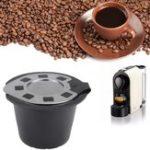 Оригинал Нержавеющая сталь с многоразовым многоразовым чашкой для кофе-капсулы с фильтром для фильтров Инструмент для Nespresso