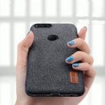 Оригинал Luxury Fabric Splice Soft Silicone Edge Shockproof Protective Case For Xiaomi Mi 5X / Xiaomi Mi A1