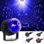 Оригинал 3W UV Purple LED Stage Light Самоходный / Голосовой активации / Мигает Crystal Ball Party Disco Club