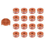 Оригинал 16Pcs Grass Trimmer Spool Line with 1Pcs Spool Cap Cover For Worx WG150s WG152